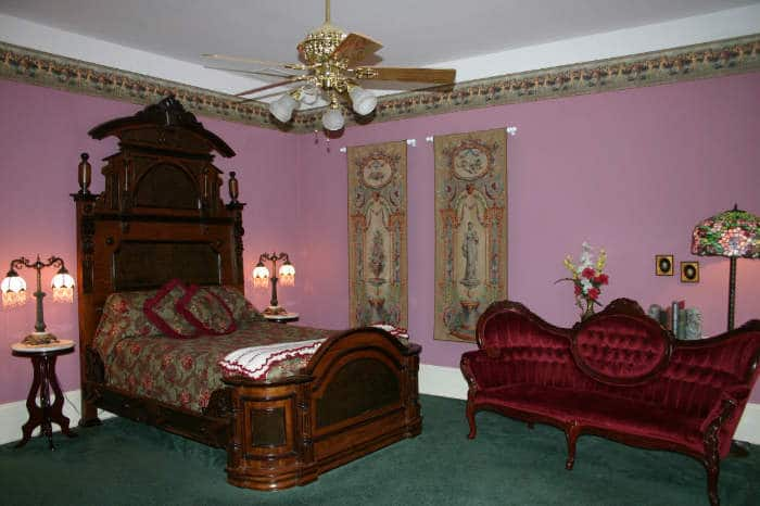The Carriage House Room is one of four bed and breakfast suites at Falcon Manor, lodging on the grounds of Falcon Rest Mansion, McMinnville, TN