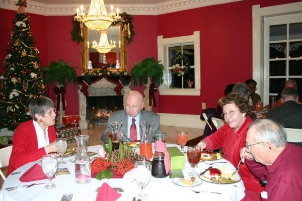 Christmas party in Victorian Carriage House, Falcon Rest Mansion's event venue