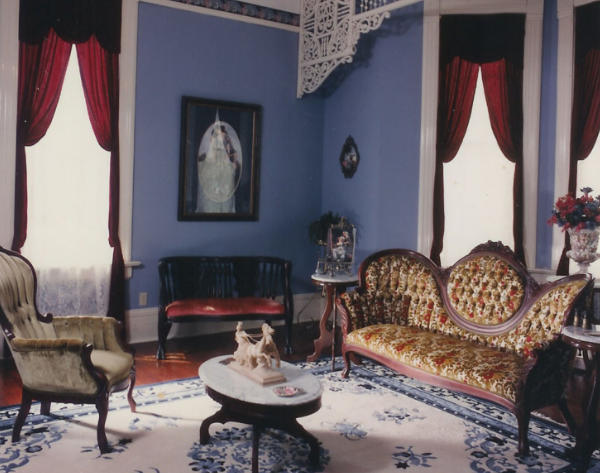 Parlor at Falcon Rest Mansion & Gardens
