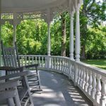 Rocking chairs on 100-foot veranda at Falcon Rest Mansion, McMinnville, TN