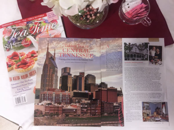 Falcon Rest's Victorian Tea Room featured in Tea Time Magazine